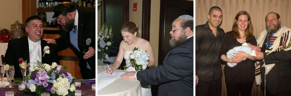 Rabbi Winer strives to make an effort to connect with the bride and groom-to-be or any family needing a rabbi's services.
